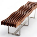 Timber wave bench