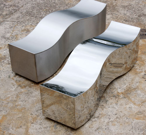 Stainless steel wave benches